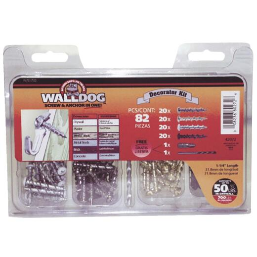 Hillman Walldog Decorator Wall Anchor Kit