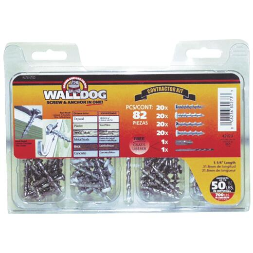 Hillman Walldog Contractor Wall Anchor Kit