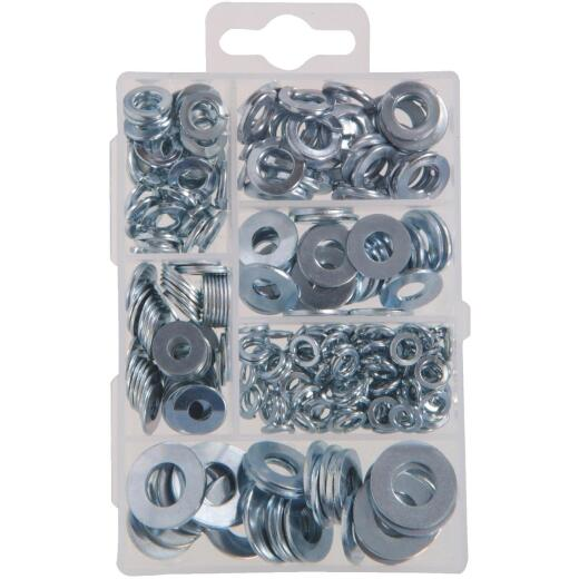 Hillman Steel Flat Lock & Washer Assortment (277 Pcs.)